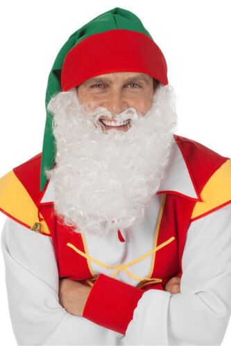 Bart nain zwergenbart Adultes Lutin Barbe blanc Mardi Gras Carnaval KK