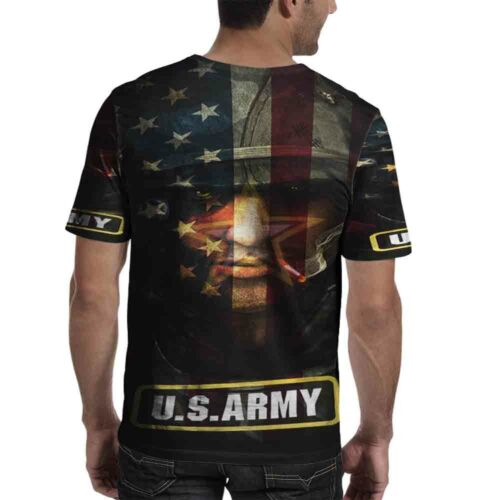 US Army New Tshirt Fullprint Polyester Men/'s T-Shirt Size S to 3XL