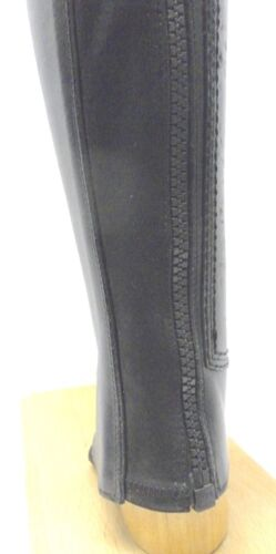 Half Chaps by Stivaleria Secchiari  in Smooth Black Leather Assorted Sizes