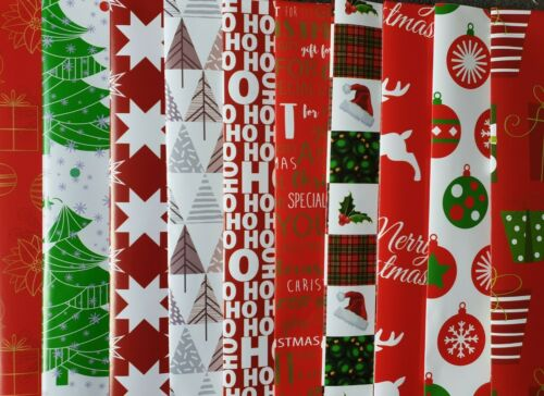 10-50 SHEETS OF GOOD QUAILTY THICK MODERN GLOSSY CHRISTMAS WRAPPING PAPER