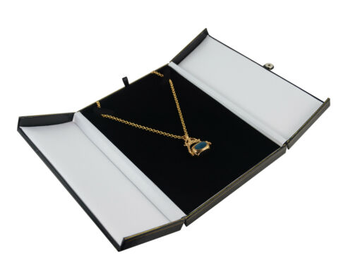 Deluxe Double Door Button Necklace Jewellery Chain Gift Presentation Display Box