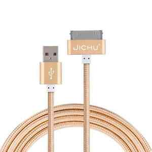 JICHU-metal-cable-for-Apple-iPhone-4S-4-3GS-30-Pins-USB-NEW-Data-Cable-Charger