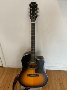 EPIPHONE-AJ-220SCE-VS-Acoustique-Guitare-electrique-avec-Gig-Bag-grande-qualite-sonore