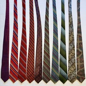 Vintage Slim Skinny Tie Lot Silk Necktie for Men Black Blue Red Floral Paisley