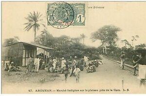 Cote-D-039-Ivoire-n-31160-ABIDJEAN-MARCHE-Indigene-auf-dem-Plateau-Pres-Bahnhof