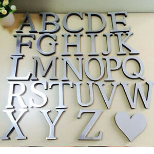 Z Alphabet In Heart Alphabet-Letters-Love-Heart-3D-Mirror-Acrylic-Wall-Stickers-Home ...