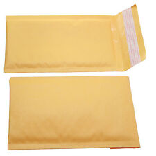Qty 5 Small Size 000 5x8 Kraft Bubble Padded Envelopes 45x7 Usable Space