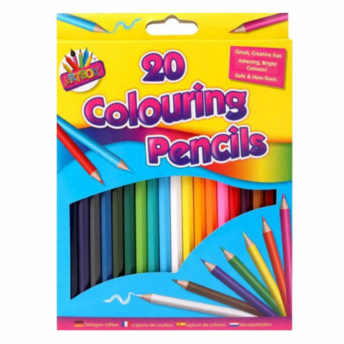 Paquete De 20 Lápices de Colores Surtidos Colorante Arte y Dibujo Lote De Color