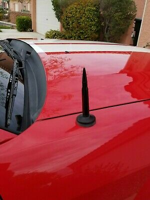 "9/"" Black Stainless Antenna Mast Power Radio AM//FM for FORD MUSTANG 1979-2009 New"