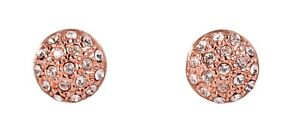 Swarovski-Elements-Crystal-Round-Dome-Stud-Earrings-Rose-Gold-Authentic-7315z