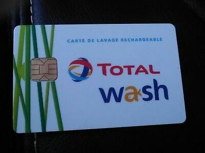 Carte de lavage rechargeable Total wash neuve créditée de 40€