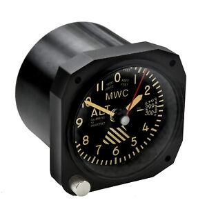 Retro-Pattern-Replica-Aircraft-Altimeter-Cockpit-Clock-ideal-for-a-desktop