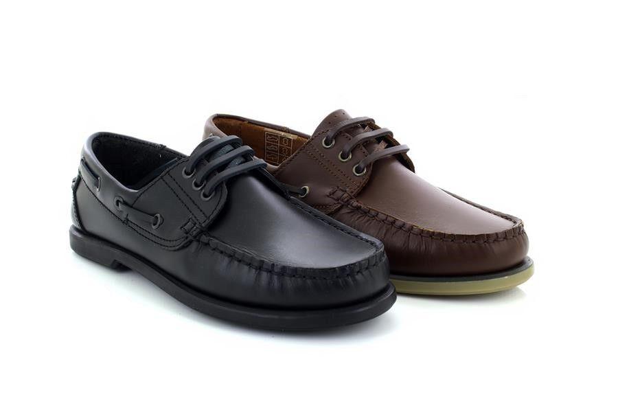 Dek Elliot M095 Brun negro Mocassins Cuir Cuir Cuir Cousu Main zapatos Bateau f6545e