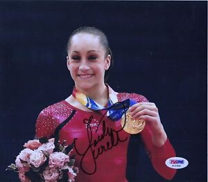 JORDYN-WEIBER-AUTOGRAPH-SIGNED-8-X-10-COLOR-PHOTO-OLYMPIC-GOLD-PSA-DNA-AUTHENTIC