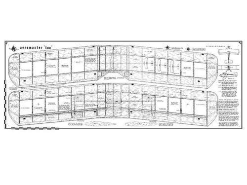AMCO Aeromaster Two Full Size Balsa Model Airplane Kit Printed Plans