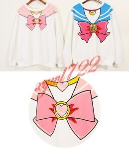 Sailor Moon Chibiusa Chibi Harajuku Hoodie Sweatshirt 20th Anniversary Cosplay