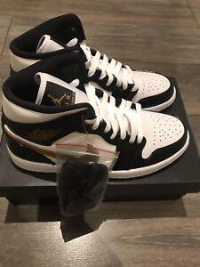 Noir Noir Blanc 10 Uk Brevet Or 1 Brand New Jordan wqIvvB