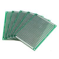 5Pcs Double Side 5x7cm Printed Circuit PCB Vero Prototyping Track Strip Board U0