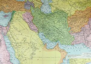 Details about 1921 LARGE MAP SOUTH WESTERN ASIA ARABIA ASIA MINOR TURKEY  PERSIA AFGHANISTAN