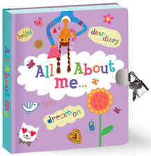 Key Lock Secret Diary Memories Wish Dreams Kid Girl Book Journal 104 lined Pages