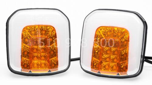 2 x LED Blink Positionsleuchte Traktor Schlepper Positionslicht Blinklicht