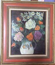 Zita LANDY XXème Ec.Fr Bouquet fleurs Influence expressionniste-Nabi: Vlaminck/B