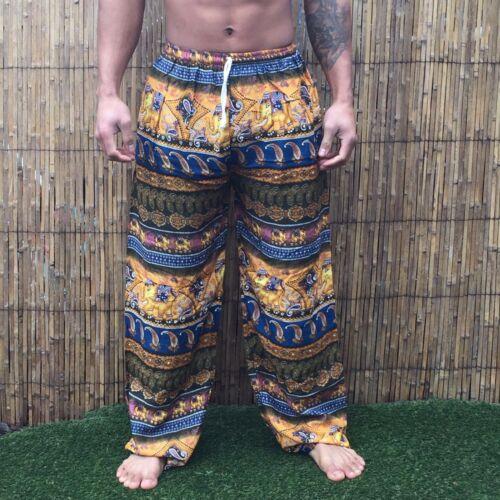 Unisex Baggy Pantaloni Festival Loose Hippy Hippie Boho Bohemien Pantaloni Elefante