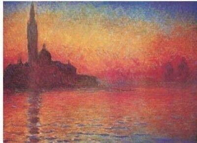 Claude Monet San Giorgio Maggiore at Dusk Painting Fine Art Re-Print A3 A4
