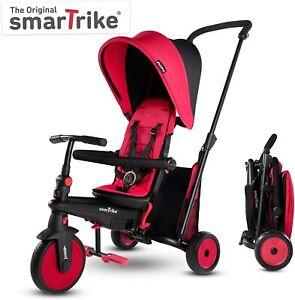 SmarTrike-STR-3-Plus-Kids-6-in-1-Compact-Folding-Stroller-Trike-Red-NEW