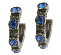 La Vintage Everyday Simulated Sapphire Blue Crystal Earrings - Qvc