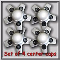 4 Silver 1998-1999 Chevy, Chevrolet S-10 Center Caps Hubcaps For Aluminum Wheel