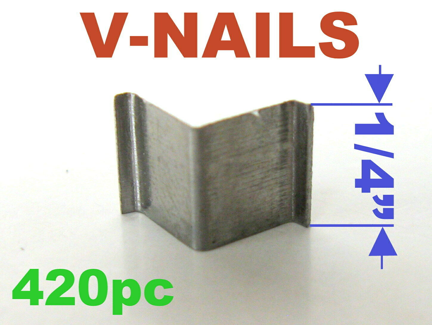 """UNI Picture Framing Universal 200-1000 pc V-Nail 1//4/"""" for Hard Wood Type"""