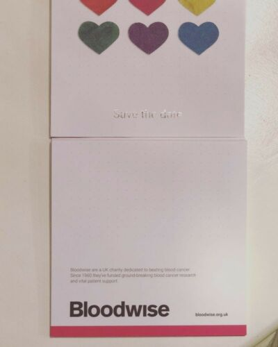 Save the Date Cards 10 x Cards Bloodwise Charity Blood Cancer