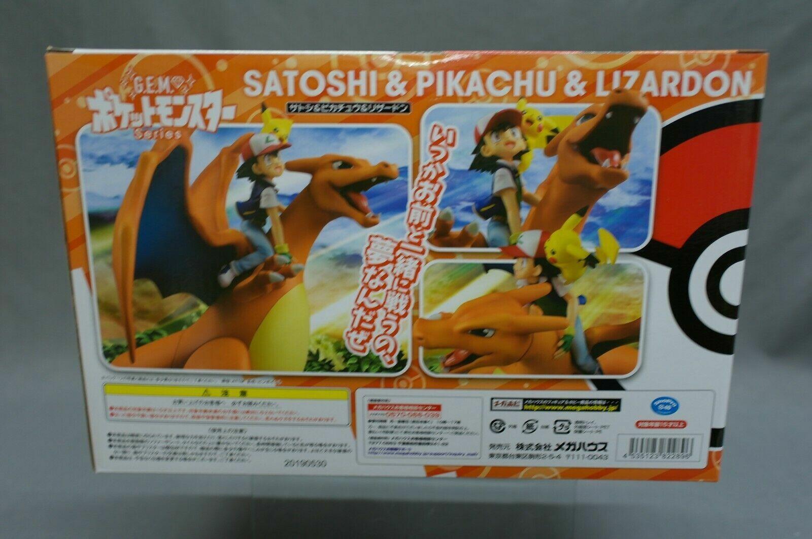 GEM G.E.M. Series Series Series Pokemon Ash Ketchum Pikachu & Charizard MegaHouse Japan nuovo 28fdfb