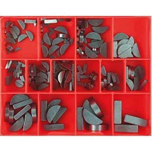 Champion Woodruff Key Metric Assortment Kit, 164 Pieces