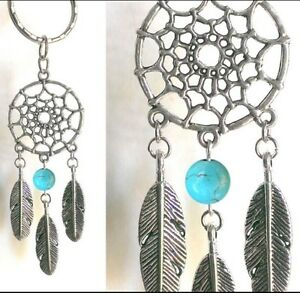 Porte-Cle-Clef-Attrape-Reve-Reves-Dream-Catcher-Plumes-Keyring-Mode-Fashion