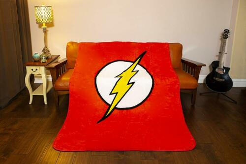 DC Comics Justice League Superhero The Flash Lightning Logo Queen Size Blanket