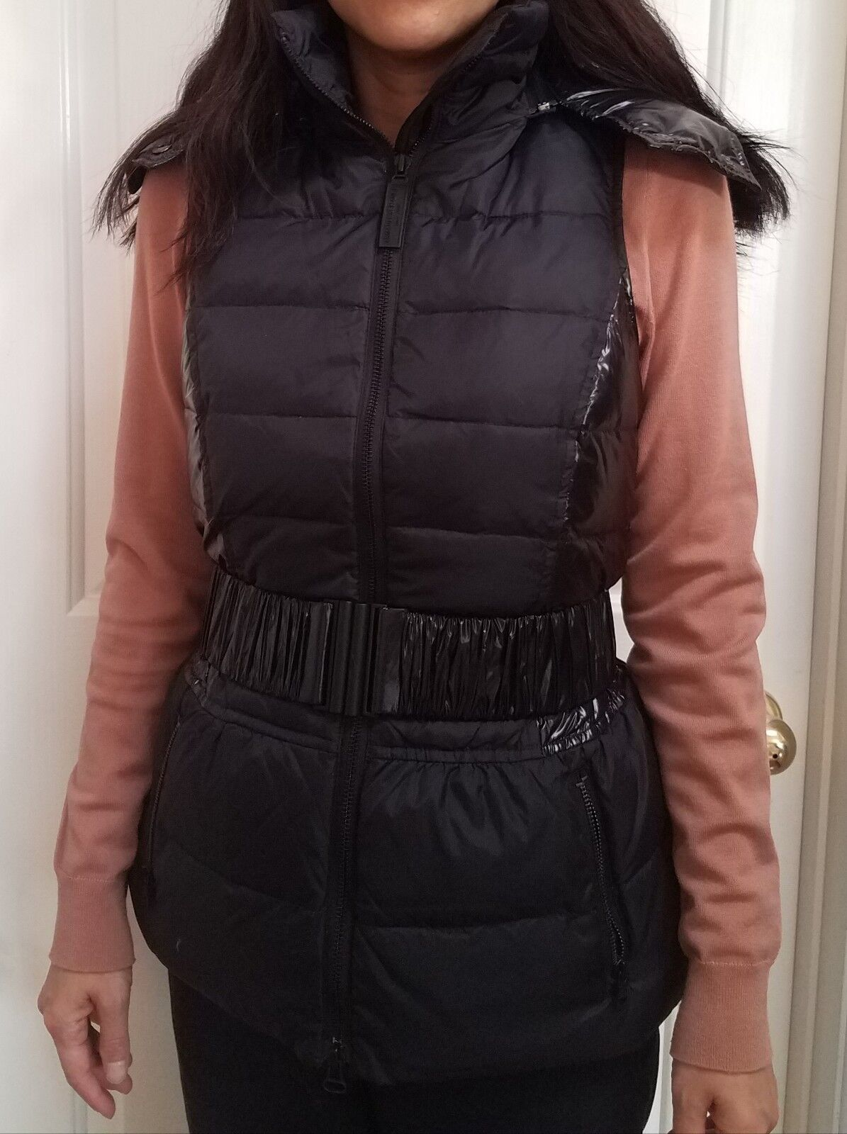 Armani Exchange Belted Hooded Puff Vest,NWT(Size-S)