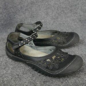 Jambu-JBU-Women-039-s-Black-039-Wildflower-039-Floral-Pattern-Mary-Jane-Shoes-Size-7-5M