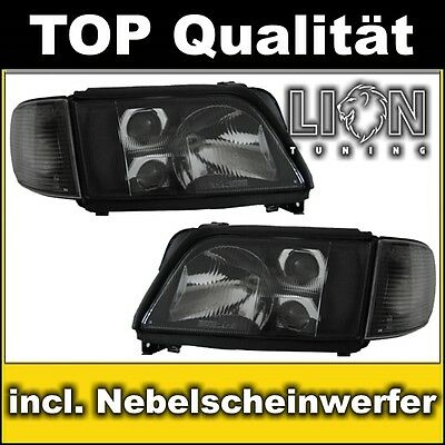 DE Scheinwerfer Audi A6, S6, C4, Audi 100, Limousine, Avant Schwarz Schwarze