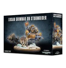 Space Wolves Logan Grimnar on Stormrider Space Marines Warhammer 40k NEW