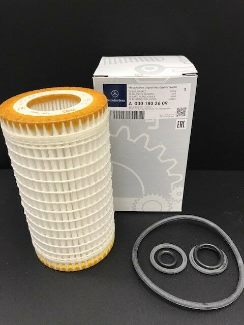 Genuine Mercedes-Benz OM272 OM273 Petrol Oil Filter With O-Rings A0001802609