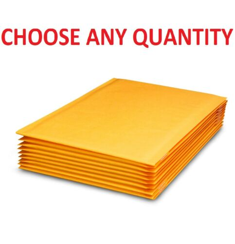 """#00 5x10 KRAFT BUBBLE MAILERS SHIPPING MAILING PADDED BAGS ENVELOPES 5/"""" x 9/"""""""