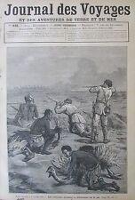 JOURNAL DES VOYAGES N° 449 de 1886 AFRIQUE CHASSE AUTRUCHE GABON CHASSE GORILLE