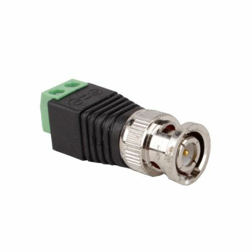 4 pack CAT5 To Camera CCTV Video Balun BNC Male Plug AV Screw Terminal Connector