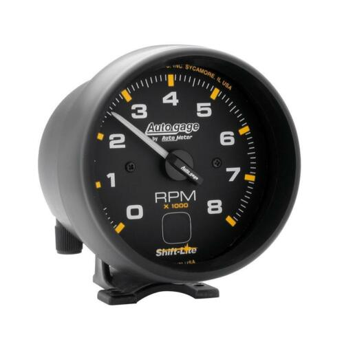 """Auto Meter Tachometer Gauge 2302; Auto Gage 0 to 8000 RPM 3-3//4/"""" Electrical"""