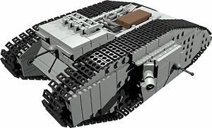 CUSTOM building INSTRUCTION for British Mark male tank to build from LEGO parts - Exmouth, Devon, United Kingdom - CUSTOM building INSTRUCTION for British Mark male tank to build from LEGO parts - Exmouth, Devon, United Kingdom