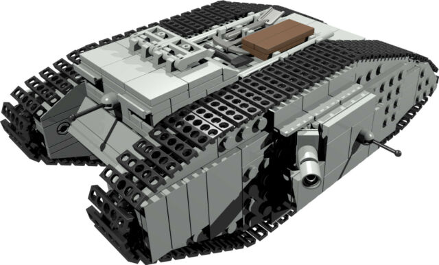 Custom Building Instruction For British Mark Male Tank To Build From
