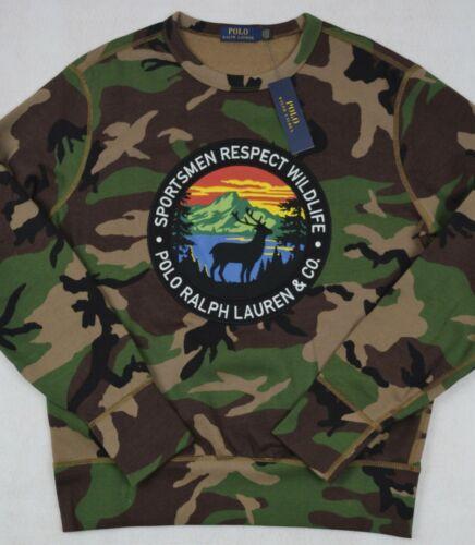 Polo Ralph Lauren Camo Fleece Sweatshirt Sportsmen Respect Wildlife S Small NWT