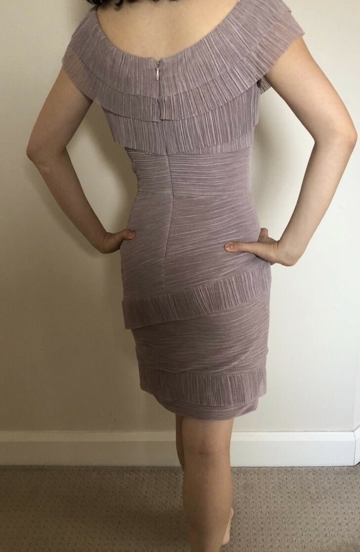 New Off the Shoulder BCBG Maxazria Lilac Lavender lila Cocktail Dress